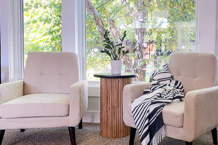 Easy How to Make a DIY Fluted Side Table